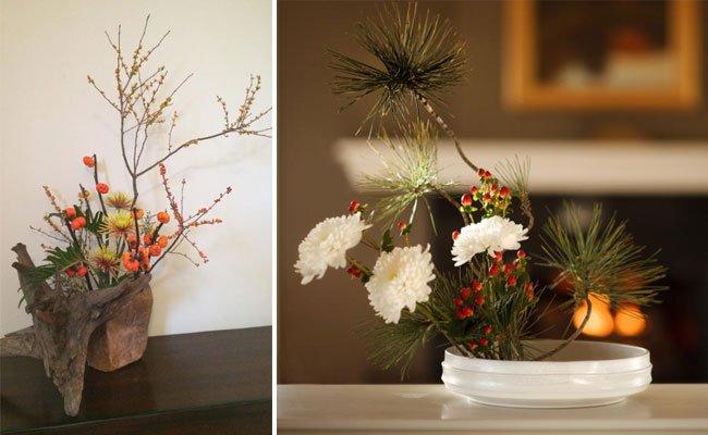Lernen Sie die japanische Blumenkunst Ikebana kennen.
