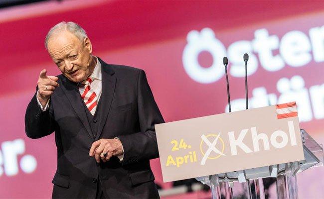 """Kandidat Andreas Khol wollte sich """"menschlich"""" zeigen."""