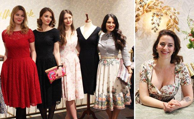 Strahlende Gesichter bei der Eröffnung des neuen Lena Hoschek Stores.