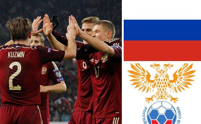 Kader und Teamportrait der russischen Nationalmannschaft.
