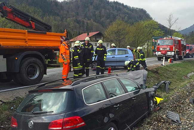 Beim Einsatz an der Unfallstelle