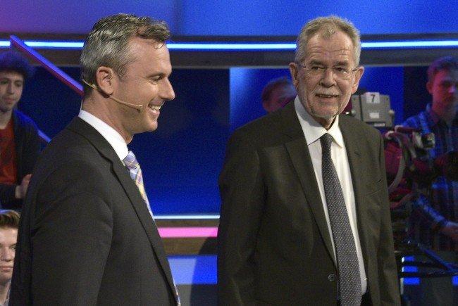 Hofer soll Van der Bellen laut einer BP-Umfrage dicht auf den Fersen sein.