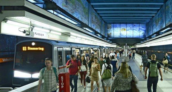 """Der Übergriff geschah in der U3-Station """"Volkstheater"""""""