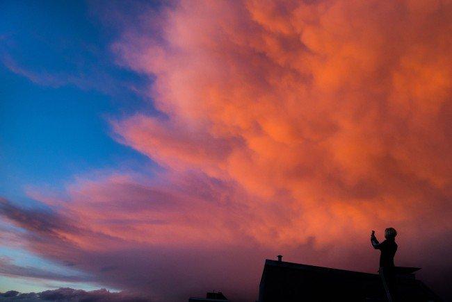 Dichte Wolken sind im Anmarsch - es wird wieder kälter.