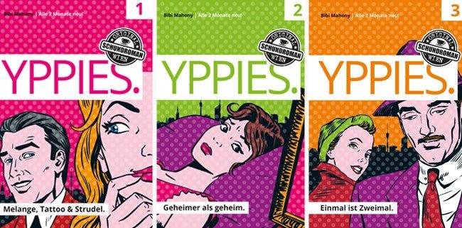"""Drei Bände der """"Yppies"""" sind bereits als Buch erschienen"""