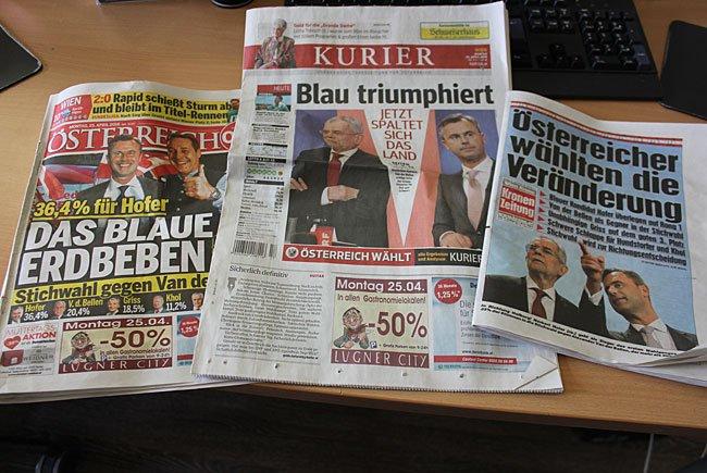 Österreichische Tageszeitungen orteten Ohrfeige für Regierungsparteien