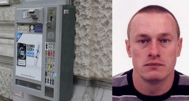 Dieser Mann wurd nach 19 Einbruchsdiebstählen in Zigarettenautomaten gesucht.
