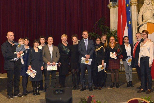 Willkommensfeier für neue Staatsbürger im Wiener Rathaus