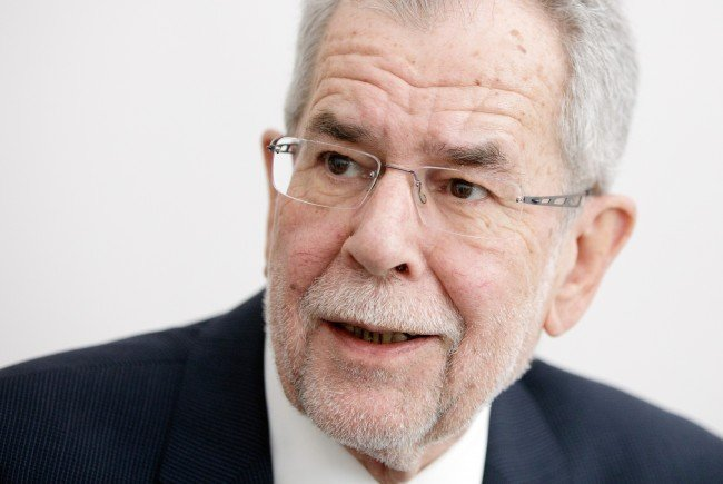 Präsidentschaftskandidat Alexander van der Bellen.