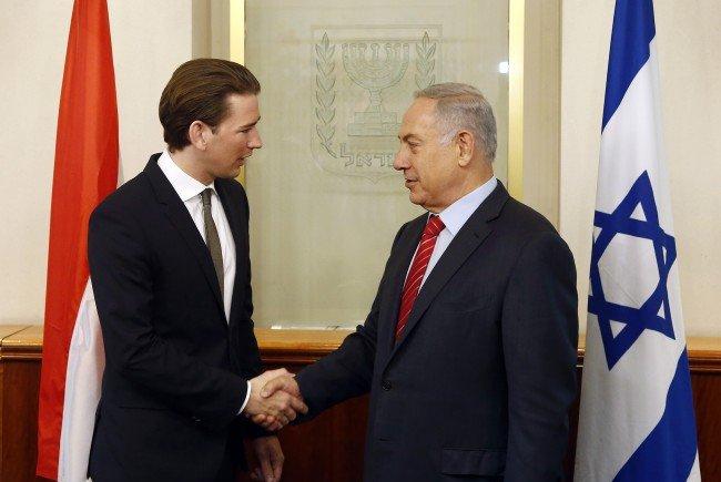 Sebastian Kurz während seines Israel-Aufenthaltes.