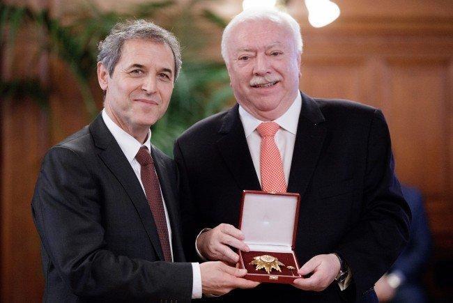 Marcel Koller freut sich über die Auszeichnung.