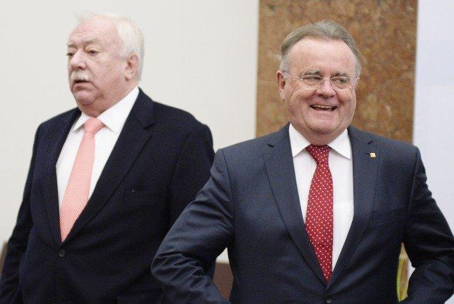 Häupl und Niessl trafen sich zu einem Gespräch über die Zukunft der SPÖ.