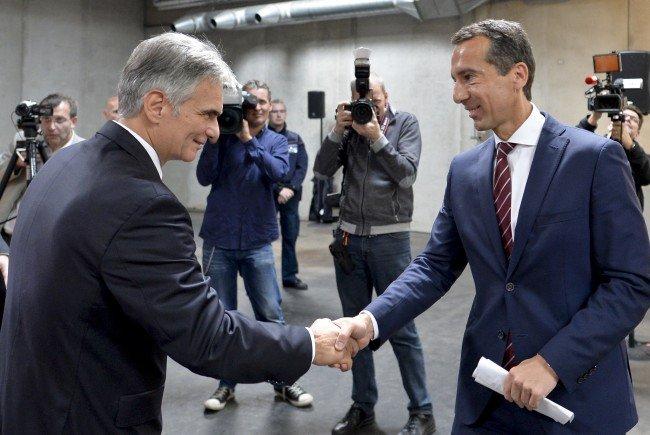 Werner Faymann und ÖBB Holding-Chef Christian Kern.