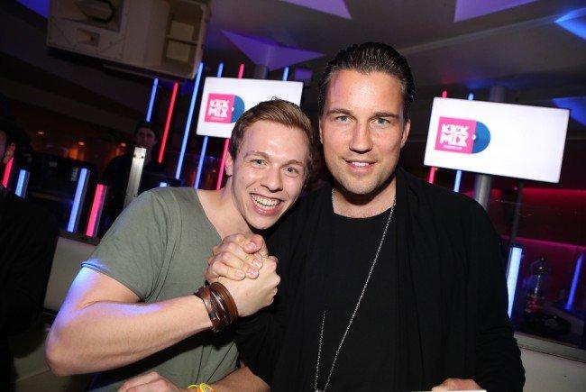 Gewinner Lukas Weissenbach mit DJ Antoine.