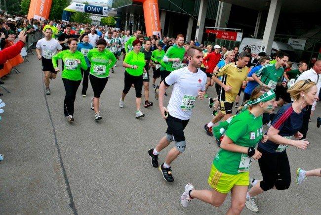 Laufen für den guten Zweck - beim Rapid-Lauf 2016.