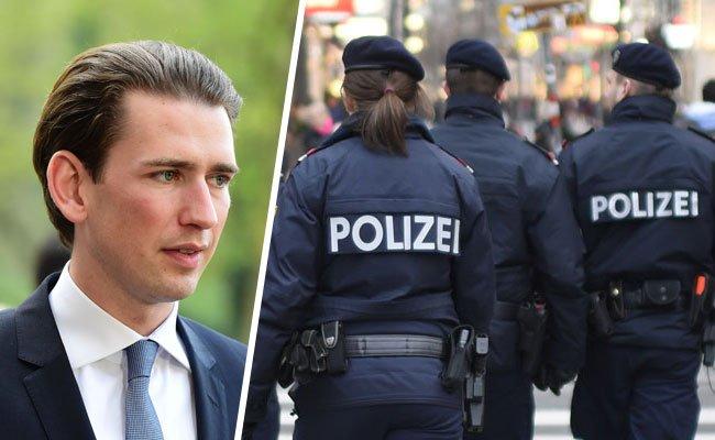 Terrorverdacht: Vor der Wohnung von Sebastian Kurz wurden zwei verdächtige Koffer abgestellt.