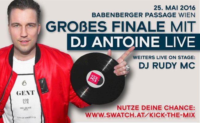 DJ Antoine live in der Passage beim Kick The Mix