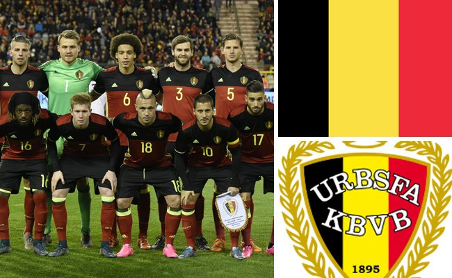 Kader und Teamportrait der belgischen Nationalmannschaft.