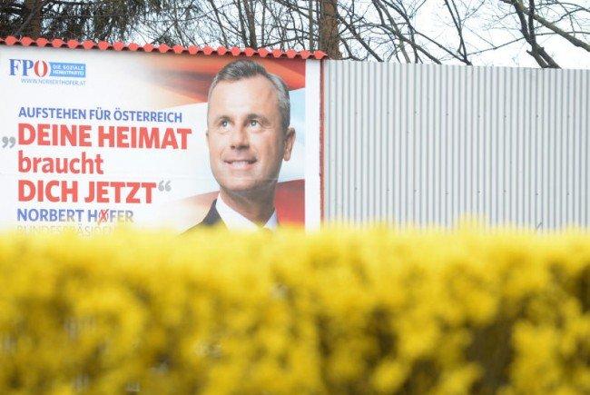 Die Schüler haben FPÖ-Plakate beschädigt.