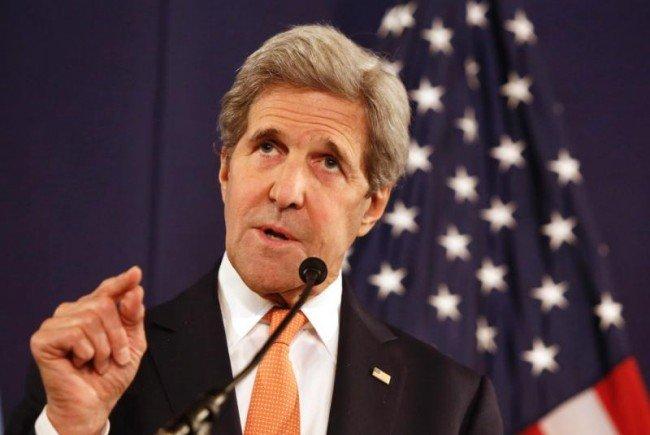 Kerry bei den Syrien-Gesprächen in Wien.