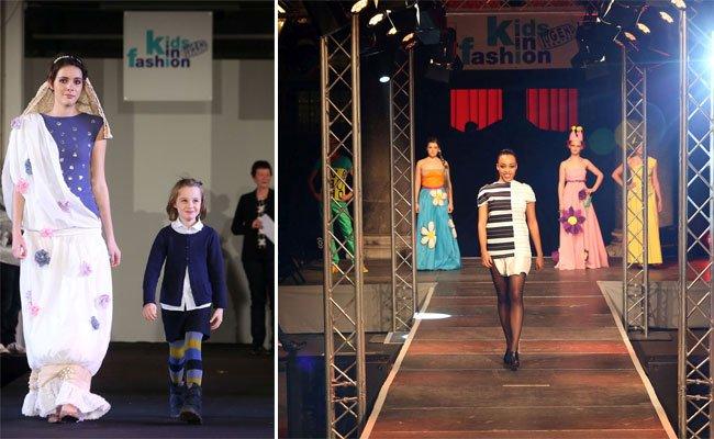 Junge Nachwuchsdesigner schicken ihre Models auf den Laufsteg.