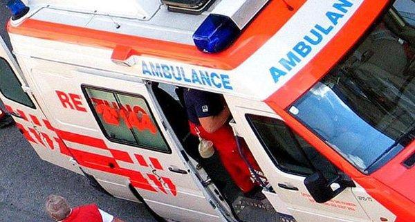 Es kam zu einem Zusammenstoß mit einem Rettungswagen