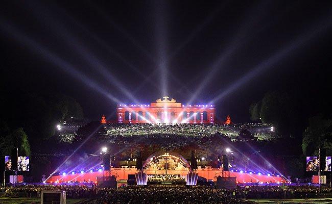 Die Bühne der Wiener Philharmoniker im Rahmen des Sommernachtskonzerts im Vorjahr