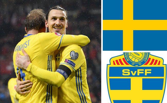 Kader und Teamportrait der schwedischen Nationalmannschaft.