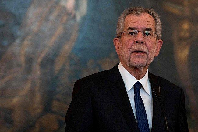 Der designierte Bundespräsident Alexander van der Bellen traf auf seinen ersten Staatsgast
