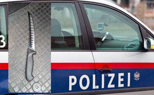 Das Messer wurde von der Polizei sichergestellt.