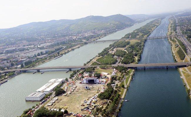 Die Polizei fand den bewaffneten Mann auf der Wiener Donauinsel.