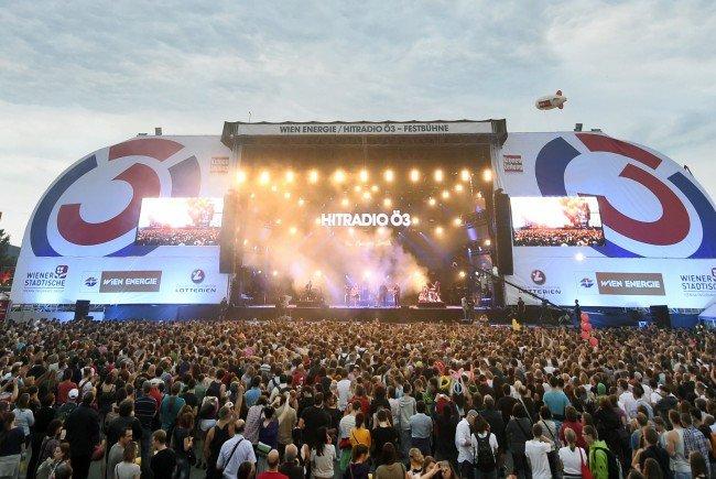 Das ist das Programm auf der Ö3-Bühne am Wiener Donauinselfest 2016.