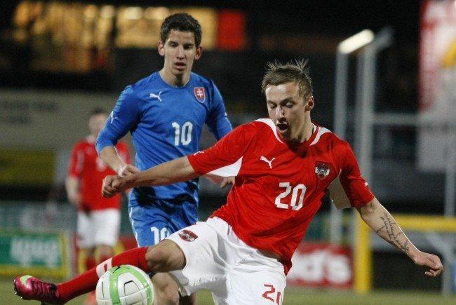 Marcel Ritzmaier im Trikot der österreichischen U21-Auswahl.
