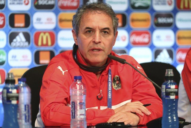 Österreichs Teamchef Marcel Koller will gegen Portugal punkten.