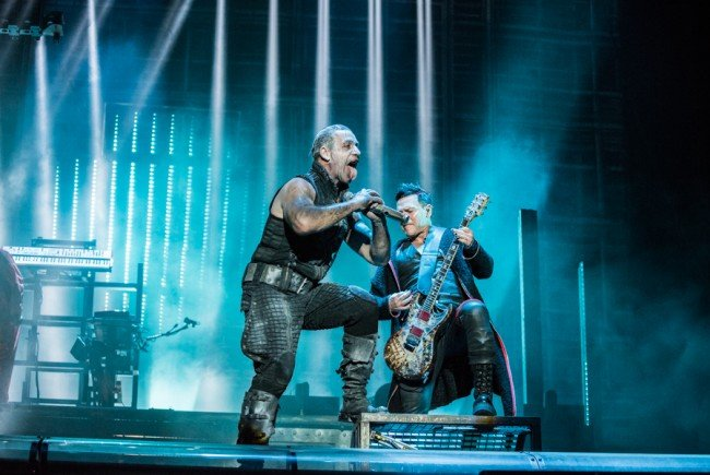 Rammstein rockten den Feitag am Rock in Vienna 2016.