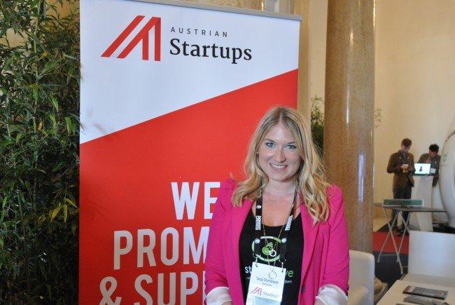 Gesprächspartnerin Tanja von AustrianStartups & StartupLive am Pioneers Festival