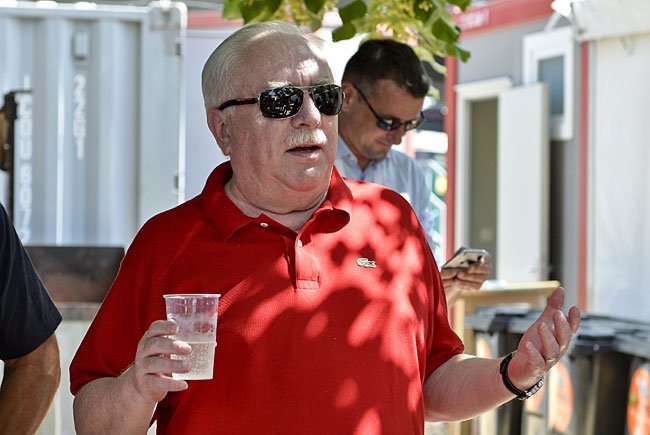 Bürgermeister Michael Häupl am Freitag beim Donauinselfest
