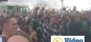 Fanzone in Belfast on fire