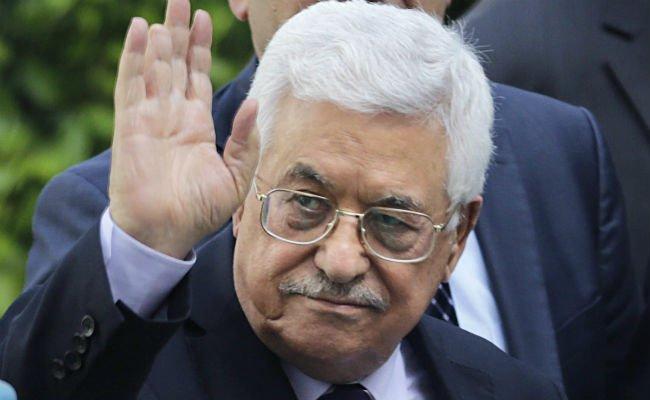 Der palästinensische Präsident Mahmoud Abbas auf Blitzvisite in Wien