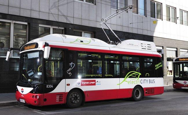Öko, aber nicht kostengünstig sind die E-Busse der Wiener Linien.