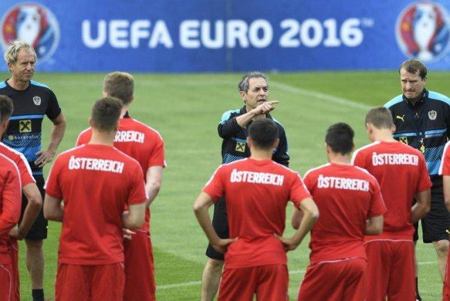 Das ÖFB-Team macht sich bereit für Ungarn.
