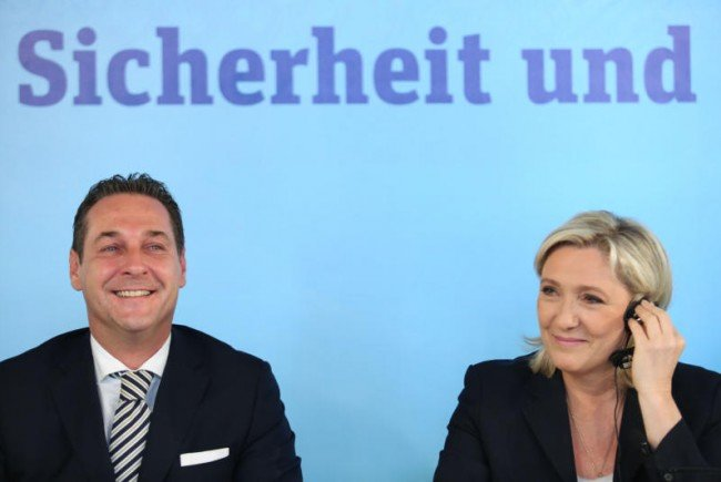 Zwei, die sich verstehen: Strache und Le Pen.