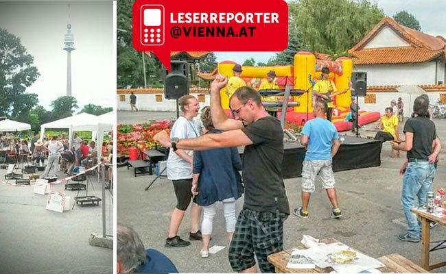 Ausgelassene Stimmung am 7. Wiener Gulaschfestival.