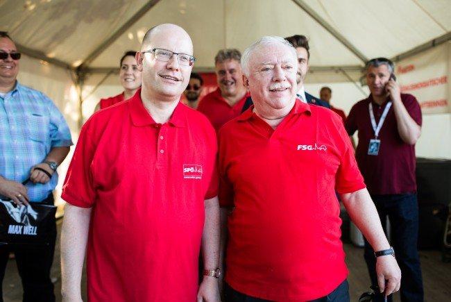 33. Donauinselfest: Bürgermeister Häupl traf Premier Sobotka