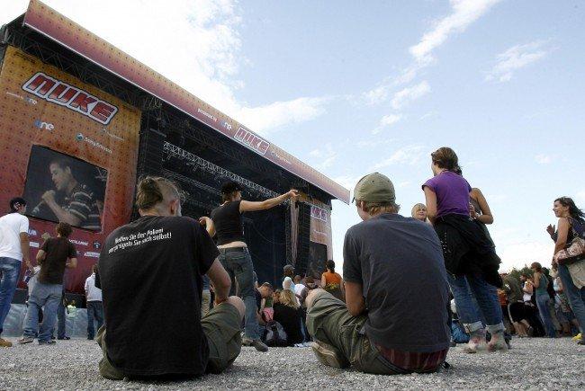 Entspannte Atmosphäre am Nuke Festival.