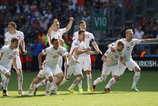 Großer Jubel bei den Polen über den Einzug ins Viertelfinale