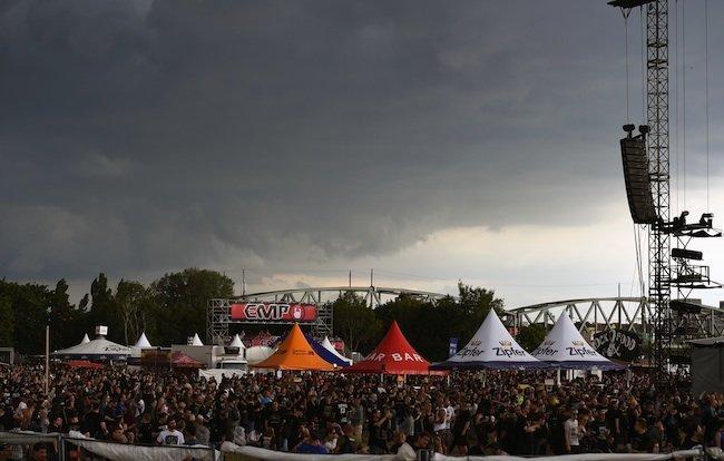 Regen stoppte das Festival-Vergnügen beim Rock in Vienna