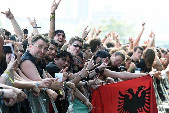 """Besucher des Festivals """"Rock in Vienna"""""""