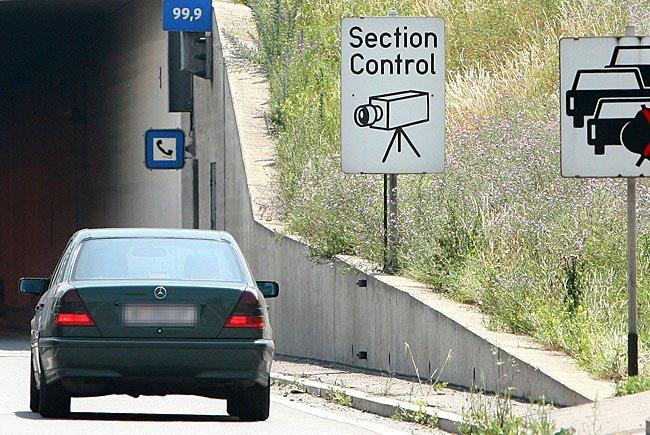 Die Section Control auf der A2 zeitigte bereits rund 10.000 Anzeigen wegen Geschwindigkeitsübertretungen