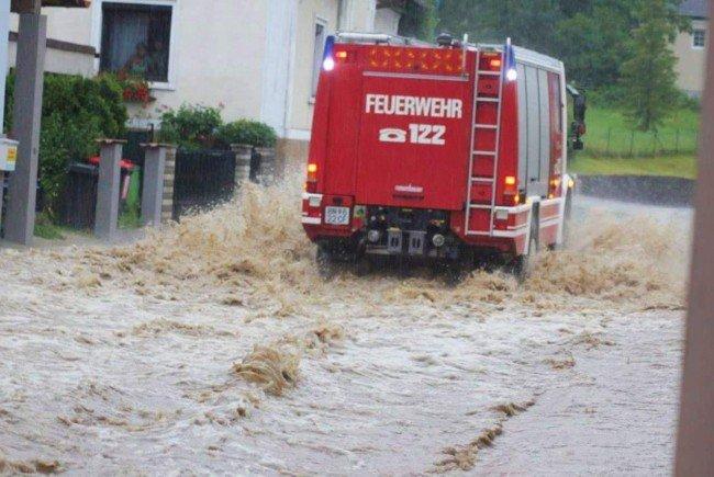 Verheerend war die Lage durch die Unwetter etwa im südlichen Niederösterreich